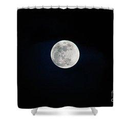 Snow Moon 4 Shower Curtain by Janie Johnson