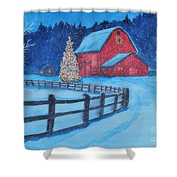 Snow On Christmas Eve Shower Curtain