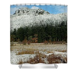 Snow On Mt. Maxwell Shower Curtain