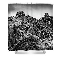 Shower Curtain featuring the photograph Snow On Peaks 46 by Mark Myhaver