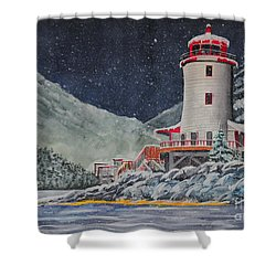 Snow On Sitka Sound Shower Curtain