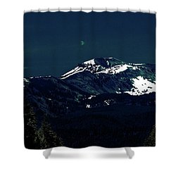 Snow On The Mountain At Night Shower Curtain