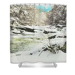 Snow On The Natchaug Shower Curtain