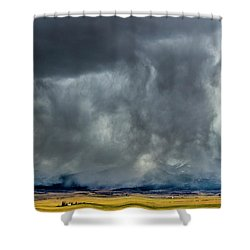 Snow On The Rockies Shower Curtain