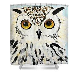 Snow Owl Shower Curtain