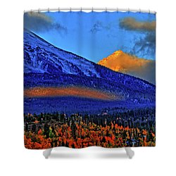 Shower Curtain featuring the photograph Snow Peak Fall by Scott Mahon