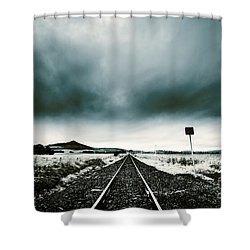 Shower Curtain featuring the photograph Snow Railway by Jorgo Photography - Wall Art Gallery