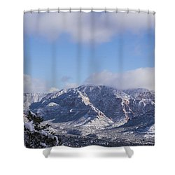 Snow Rim Shower Curtain