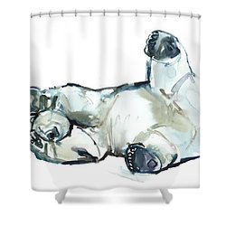 Snow Rub Shower Curtain