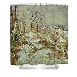Snow Scene Shower Curtain by Camille Pissarro
