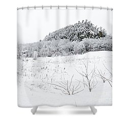 Shower Curtain featuring the photograph Snow Scene by Larry Ricker
