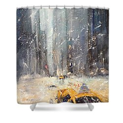 Snow Snow Snow... Shower Curtain by NatikArt Creations