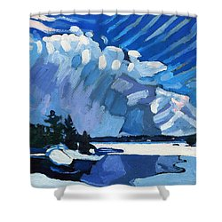 Snow Squalls Shower Curtain by Phil Chadwick
