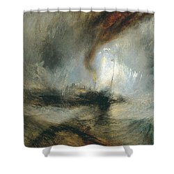 Shower Curtain featuring the painting Snow Storm by Joseph Mallord William Turner