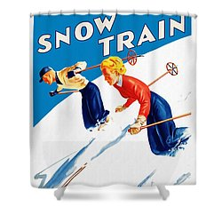Snow Train - Restored Shower Curtain