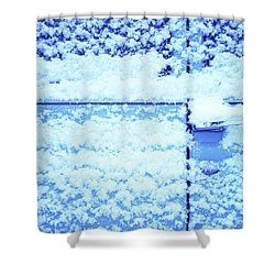 Snow Van 51 Chevy Panel Shower Curtain by Laurie Stewart