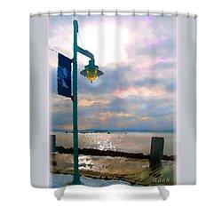 Shower Curtain featuring the photograph Snow Waterfront Park Walk by Felipe Adan Lerma