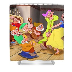 Snow White And The Seven Dwarfs Shower Curtain