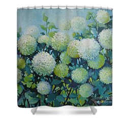 Snowballs Shower Curtain