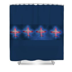 Snowbird Formation 2 Shower Curtain