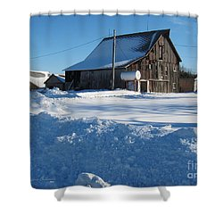 Snowbound Shower Curtain by Kathie Chicoine