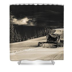 Snowcat Shower Curtain