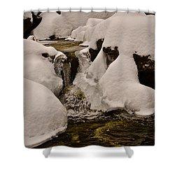 Snowcone Stream Shower Curtain