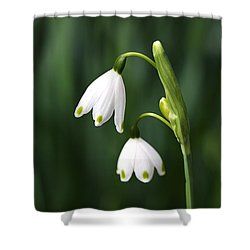 Snowdrops Painted Finger Nails Shower Curtain