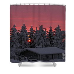 Snowed In Shower Curtain by Rod Jellison