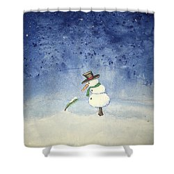 Snowfall Shower Curtain by Antonio Romero