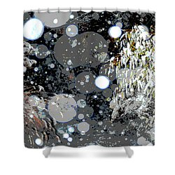 Snowfall Deconstructed Shower Curtain by Li Newton
