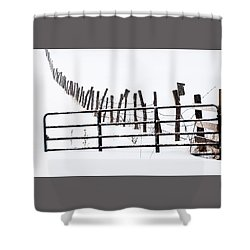Snowfield Entry - Shower Curtain
