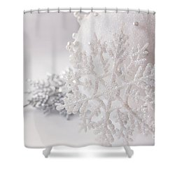 Snowflake Shower Curtain by Cindy Garber Iverson