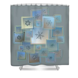 Shower Curtain featuring the photograph Snowflake Collage - Bright Crystals 2012-2014 by Alexey Kljatov