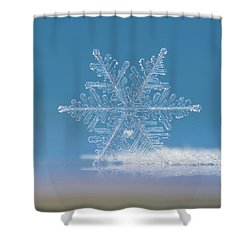 Shower Curtain featuring the photograph Snowflake Photo - Cloud Number Nine by Alexey Kljatov