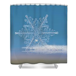 Snowflake Photo - Cloud Number Nine Shower Curtain
