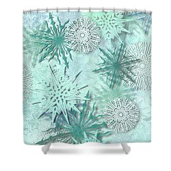 Snowflakes Shower Curtain by AugenWerk Susann Serfezi