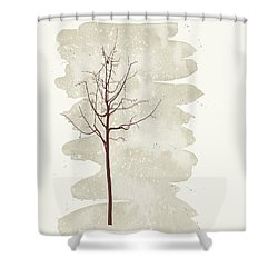 Snowflakes Swirl Shower Curtain by Kandy Hurley