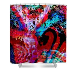 Snowing Baobab Shower Curtain