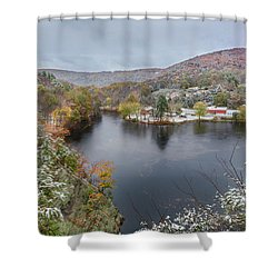 Shower Curtain featuring the photograph Snowliage by Bill Wakeley