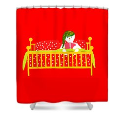 Snowman Bedtime Shower Curtain