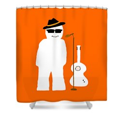 Snowman Musician Shower Curtain by Barbara Moignard