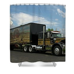 Snowmans Dream Replica Semi Trruck Shower Curtain
