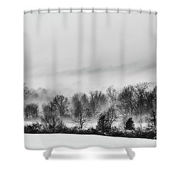 Snowscape Shower Curtain by Nicki McManus