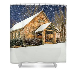 Snowy Cloudland Presbyterian Church  Shower Curtain