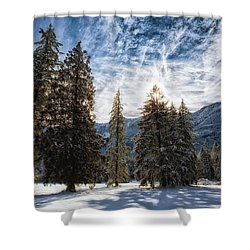 Snowy Clouds Shower Curtain