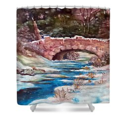 Snowy Creek Shower Curtain by Jim Phillips