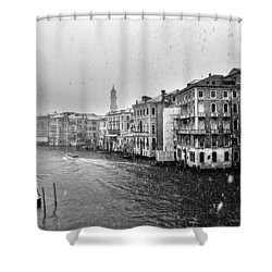 Snowy Day In Venice Shower Curtain
