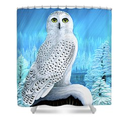 Snowy Delight Shower Curtain