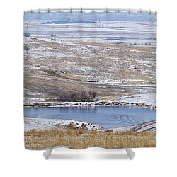 Snowy Hills 1 Shower Curtain